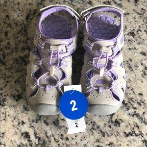 Khombu Grey and Purple Sandals